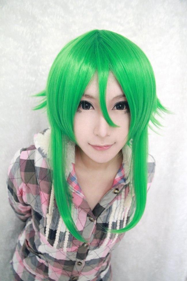 バンド新55センチ女の子合成髪型フィギュアコスプレvocaloid gumiかつら緑
