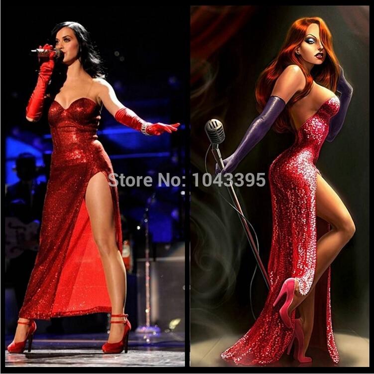 Vestido De Festa Red Sequin Sweetheart High Slit Mermaid Evening