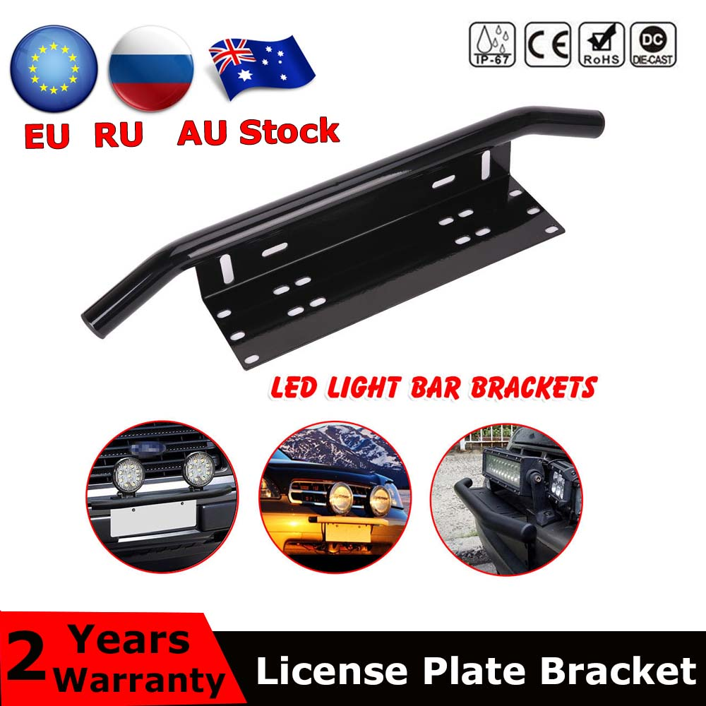 23'' Car Number Plate Offroad Front License Number Plate Bracket Frame Holder Light Bar Mount Bumper For SUV Truck Vehicle