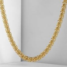 5mm Wide Womens Mens Chain Unisex Boys Girls Swirl Link Yellow Gold Filled GF Necklace GN325(China)