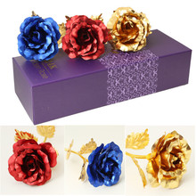 Foil Plated Rose Flower 6 Colors