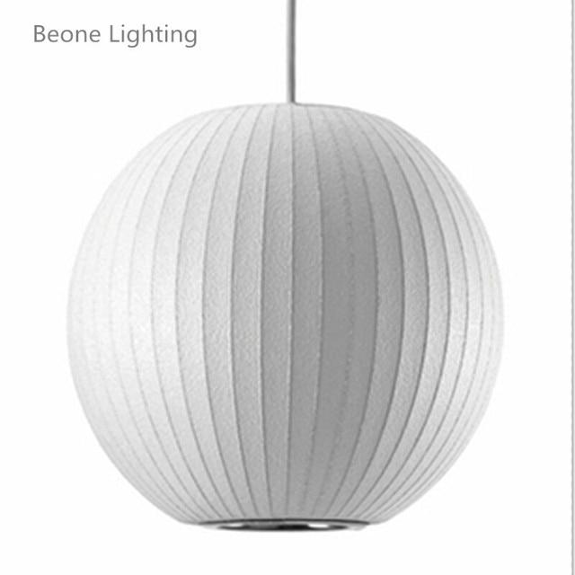 Saucer Bubble white Silk Ball Pendant Lamp Lights lighting White Replica E27 Silk living room dining room nordic hanging light