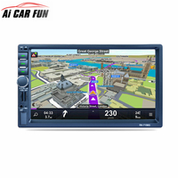 RK 7156G 7inch 2Din Car Radio Bluetooth Car Radio FM/AM/RDS Radio GPS Navigation Car Multimedia Player Mobile Phone Function 7