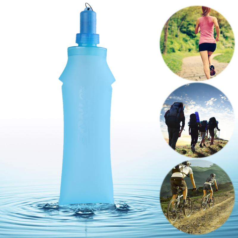 500ml TPU Folding Soft Bottle Water Bladder Bag Backpack Hydration System Pack Camping Hiking Running Travel Soft Drink Bottle