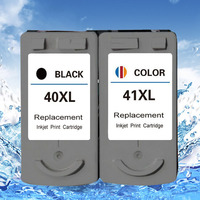 2pcs Remanufactured PG40 CL41 Ink Cartridge for Canon PIXMA ip1600 ip1800 ip2200 MP140 printer