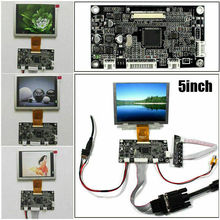 Latumab  5 inch ZJ050NA-08C LCD Screen + VGA AV LCD Controller Driver Board 640x480 4 3 lcd screen 2av vga driver board at043tn24 34 7m 40pin lcd screen