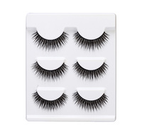 3 Pairs False Eyelashes Makeup Eye Lashes Fake Lashes Eyelash Extension Elastic Hand Made Eyelashes