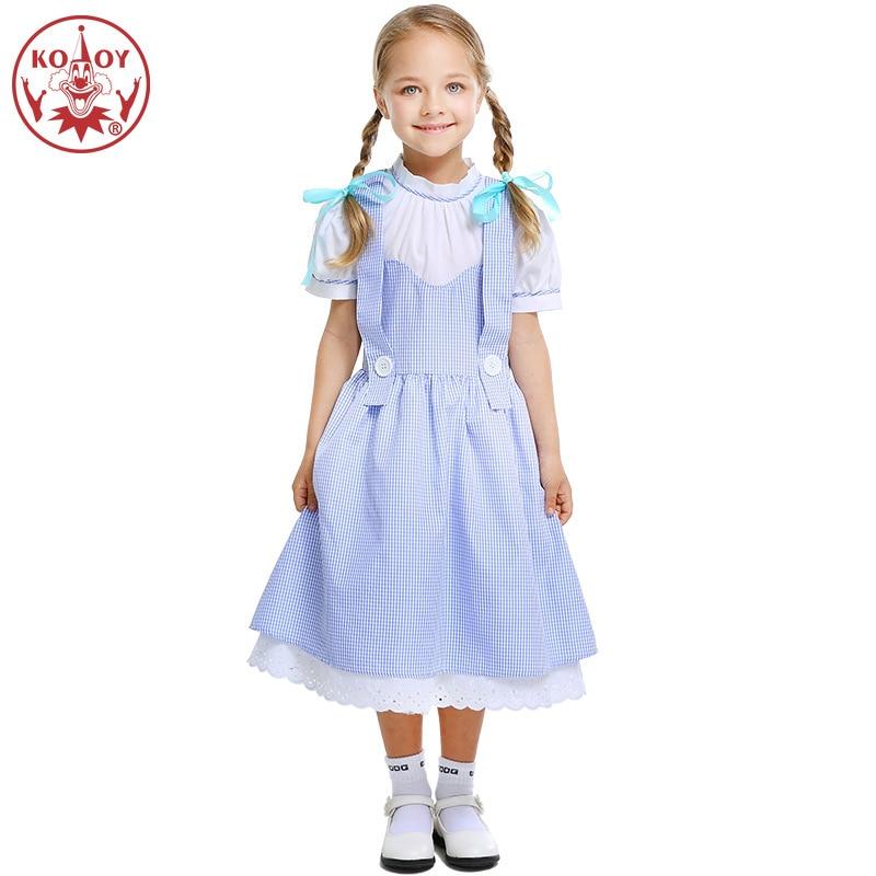 2019 New Halloween Cosplay Costume Girls Fancy Dress Stage drama performance clothing Birthday Gift Kids Long Dresses