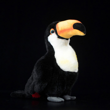 25cm Lifelike Toucan plush mänguasjad Cute Toco Toucan plush nukud simulatsiooni lind täidisega mänguasjad Kingitused lastele
