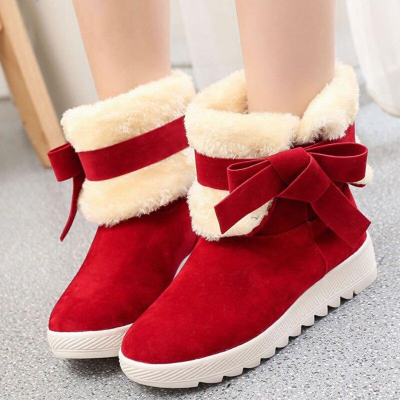 De Negro Tobillo Las red Mujeres La Antideslizante Arco Moda Botas Black Cuero Mujer Piel Para khaki Plataforma Nuevo Dvt26 Zapatos Nieve Invierno qISwnPd