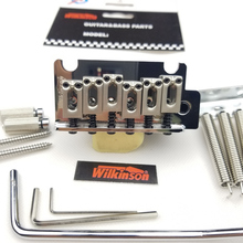 Wilkinson 2 post point Chrome Silver Double swing Electric Guitar Tremolo System Bridge for strato and suhr guitar WOV06 chrome 2 point st style guitar tremolo bridge locking system
