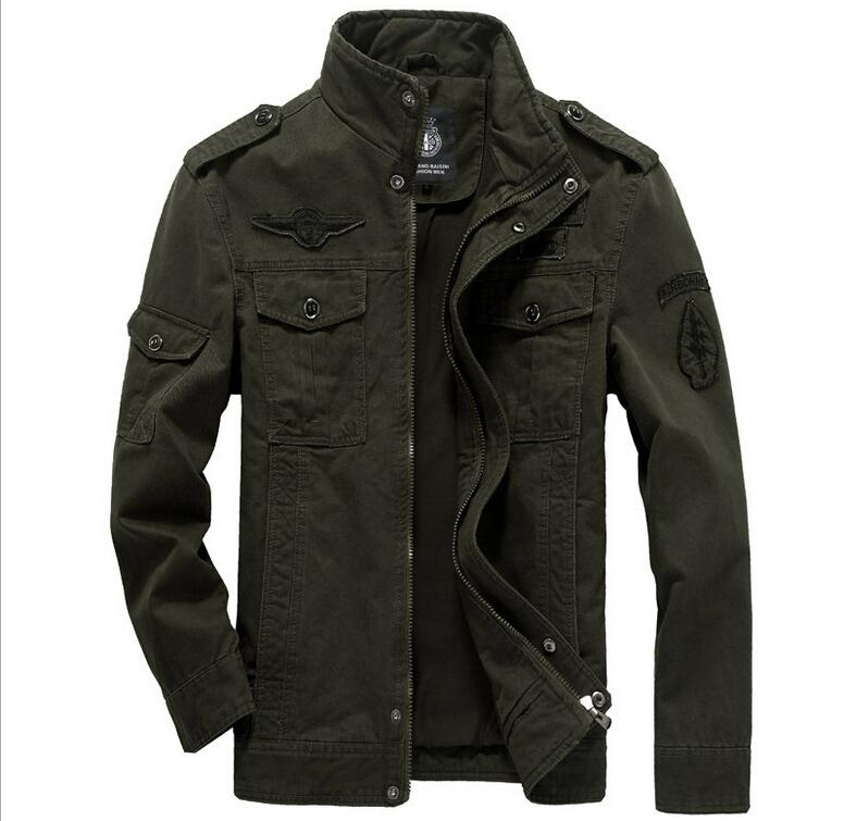 Online Shop Mens Jacket Cotton Military 2015 High Quality Casual ...