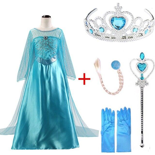 4360b4069906c US $8.99 |Elsa Dresses For Gilrs Cosplay Princess Anna Elza Snow Queen Elsa  Costume Halloween Party vestidos fantasia Kids girls clothing-in Dresses ...