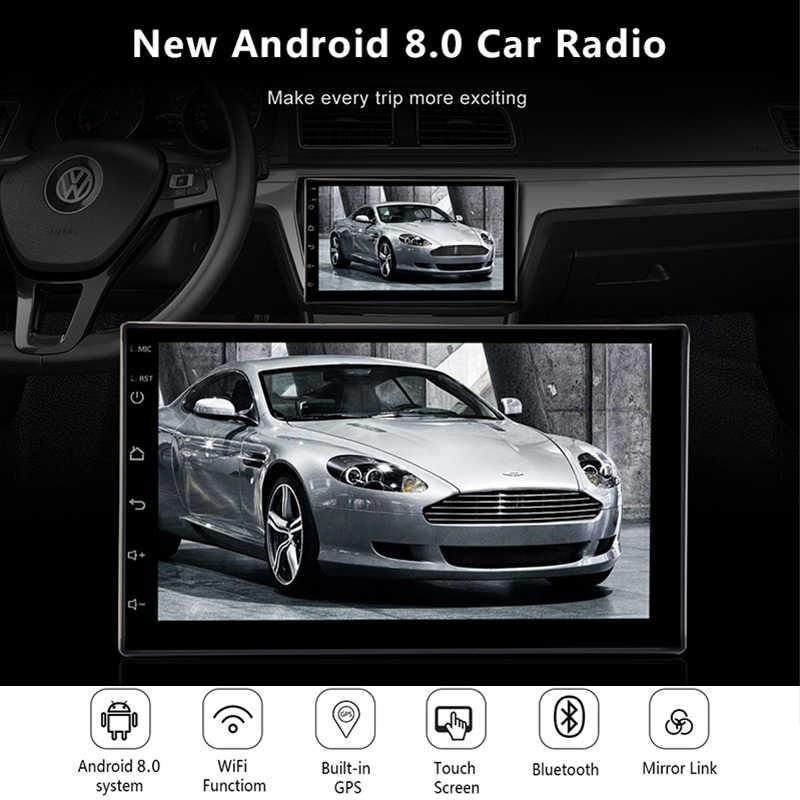 """2 Din Araba Radyo GPS Android 8.0 Evrensel Multimedya Video Oynatıcı 7 """"2din Araba MP5 Oynatıcı GPS NAVIGASYON WIFI bluetooth Hiçbir DVD"""