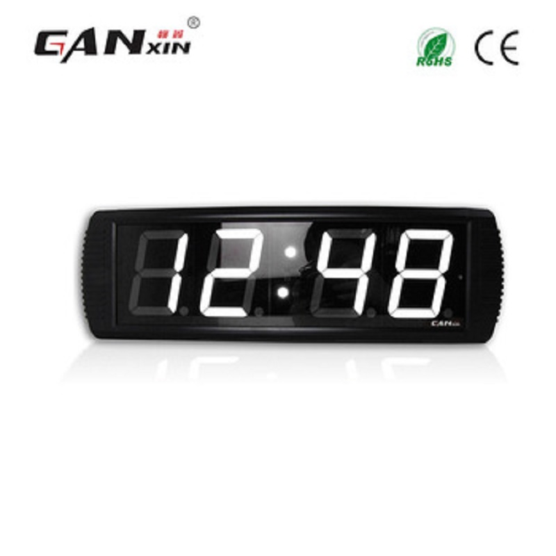 Ganxin White Color Cheap Customized Led Wall Countdown Clock Digital Timer
