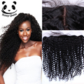 Silk Base Frontal Closure Brazilian Kinky Curly Virgin Hair 7A Full Frontal Lace Closure13x4 Lace Frontal Closure With Baby Hair