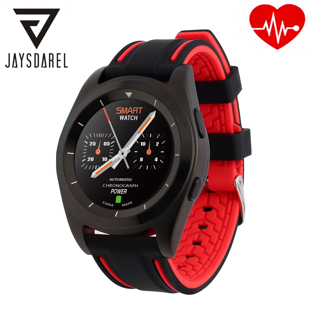 JAYSDAREL Heart Rate Monitor Smart Watch NO.1 G6 Fashion Slim Sports Business Pedometer Bluetooth Smartwatch for IOS Android jaysdarel heart rate blood pressure monitor smart watch no 1 gs8 sim card sms call bluetooth smart wristwatch for android ios