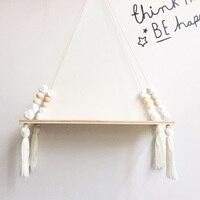 Planken Clapboard Muur Opknoping Kwastje Decoratie Geschenken Schommel Touw Voor Kinderen Kamer Party Beste Prijs