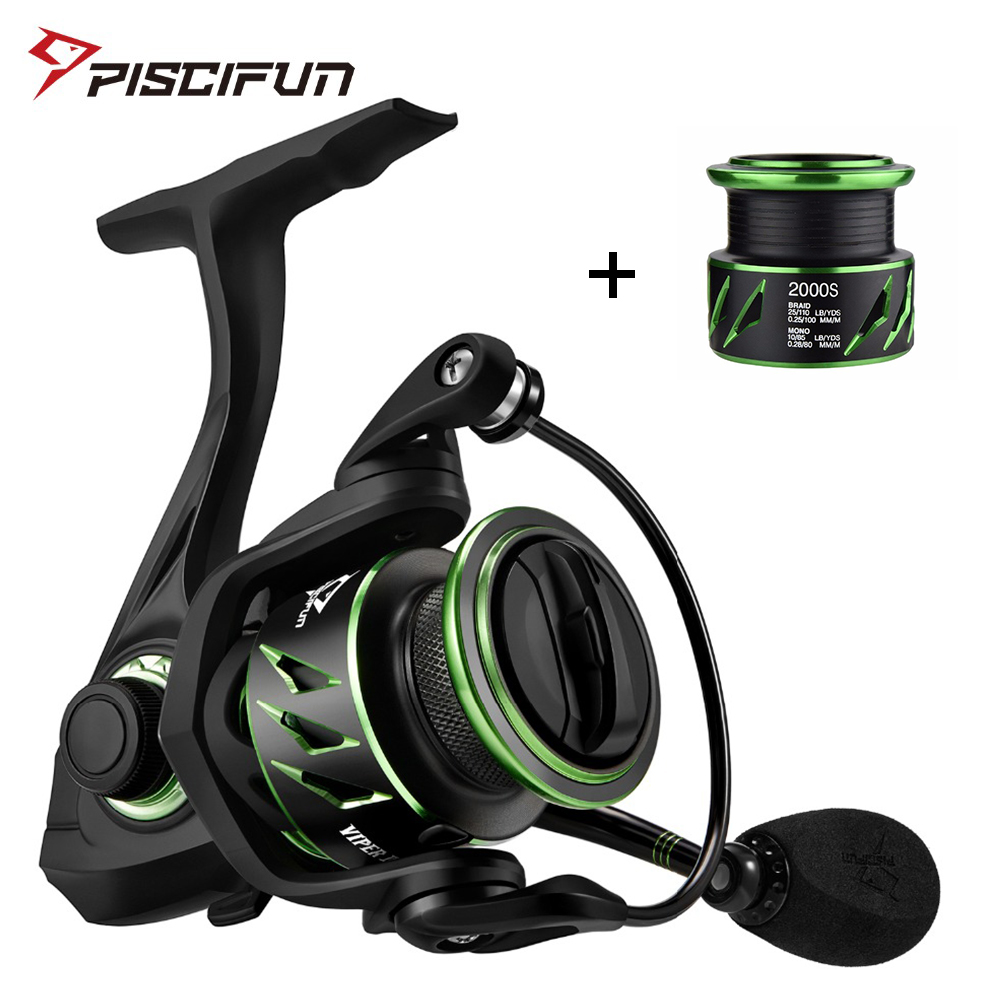 Piscifun Viper II Spinning Fishing Reel with Spare Spool 6 2 1 Gear Ratio 11 Bearings
