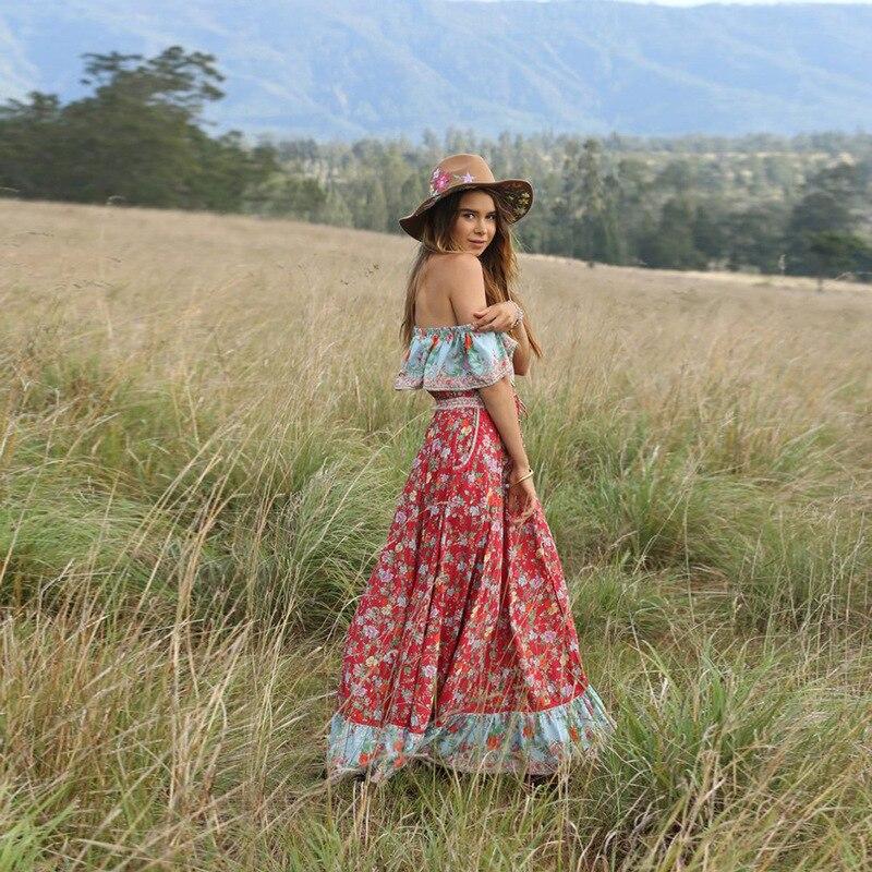 Aliexpress.com : Buy Bohemian Boho Chic Dress Long Womens