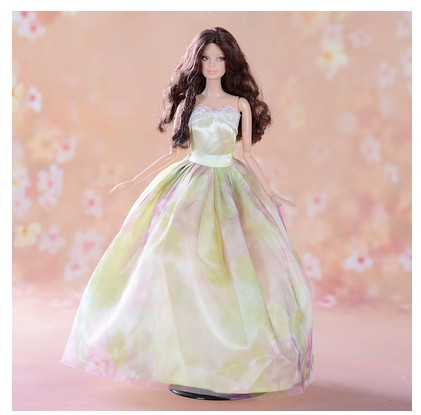 Guide handmade Items For Ladies Doll Equipment Night lace  Marriage ceremony Gown Garments For Barbie 1:6 Doll BBI00190-6