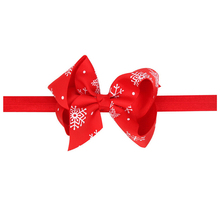 EASOV Newborn Headband Snowflake Bow Knot Headband Hair clip Merry Christmas Kids headwear Elastics Hair Accessories  W184