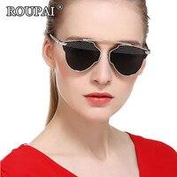 ROUPAI 2017 Luxury Brand Sun Glasses For Women Fashion Polarized Sunglasses Vintage Rivet Steampunk Eyeglasses Female
