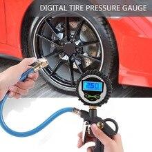 Автомобильный ЖК-цифровой шиномонтажный манометр, измеритель давления в шинах, тестер для грузовой автомобиль, мотоцикл, велосипед, автомобильный манометр