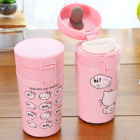 New Kawaii Cute Hello Kitty Cartoon Stainless Steel Thermal Bottle Insulation Cup Birthday Christmas Gift Kids