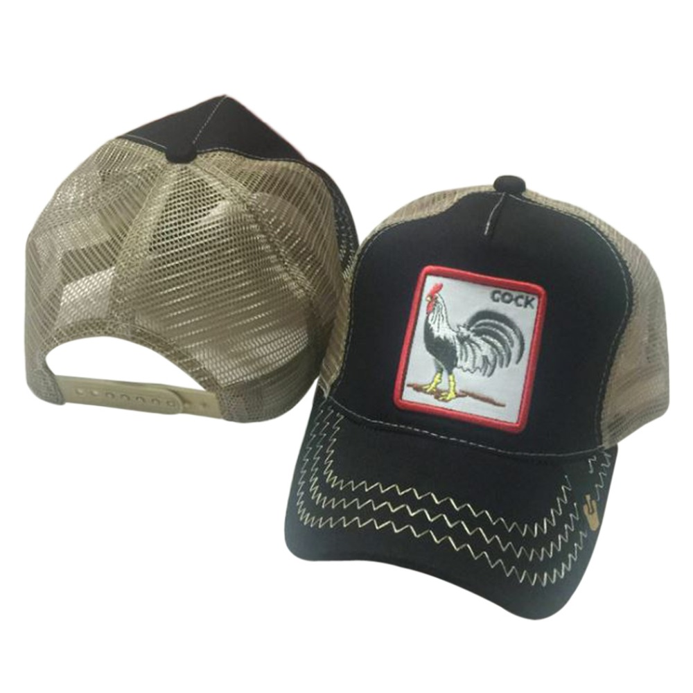 Unisex Animals Embroidery Patch Baseball Cap Hip Hop Snapback Mesh Trucker Hat bone para bordar