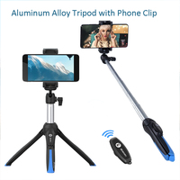 Desktop Tripod for Phone Bluetooth Camera Octopus Mini Tripod Selfie Stick for DSLR Camera iPhone Huawei Samsung Extension Rod