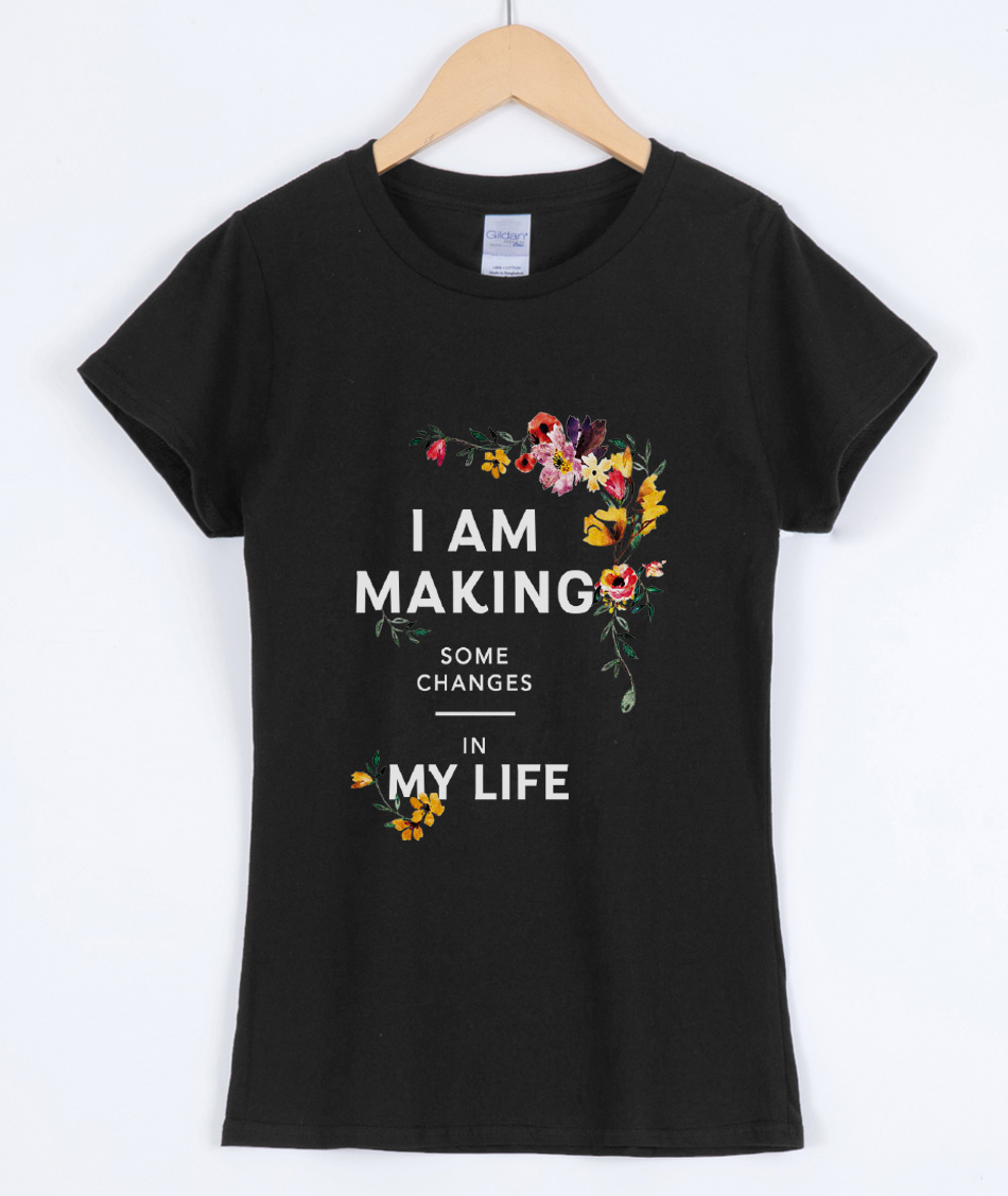 New arrival fashion T-shirts for women 2019 summer short sleeve cotton high quality female T-shirt I AM MAKING MY LIFE print top