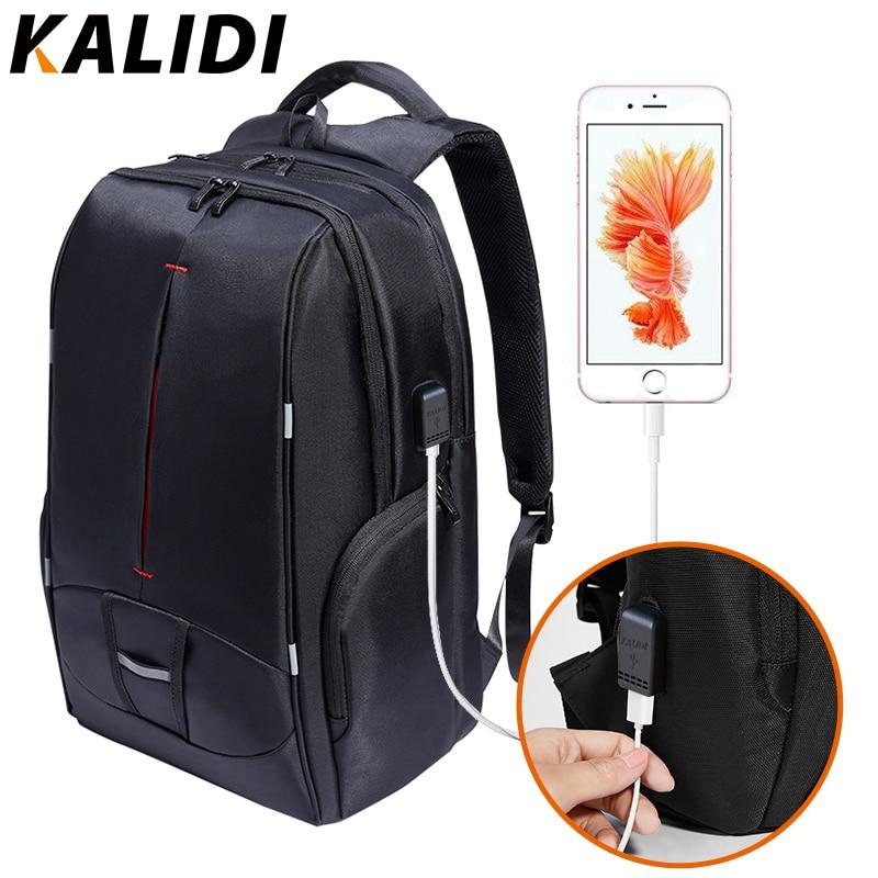 KALIDI 17 inch Waterproof Men Backpack USB Charging Laptop bag Students Bag Notebook Laptop Backpack School Bag for 15.6 inch kalidi 2pcs set backpack