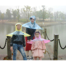Creative Raincoat Umbrella Headwear Hat Cap Outdoor Fishing Golf Child Adult Rain Coat Cover Transparent Umbrellas Size S/M/L