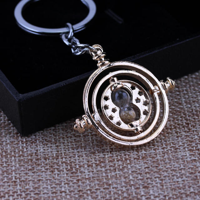 Time Turner + Deathly Hallows Keychains