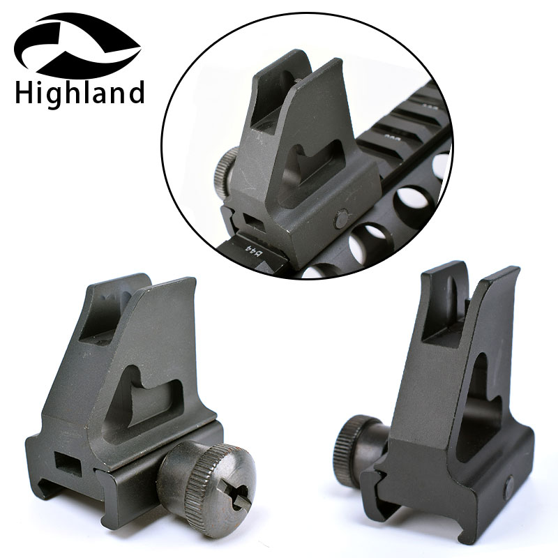 Tactical AR15 Hand Guard Rails Low-Profile Quick Detachable Iron Front Sight Picatinny/Weaver Rail For High Gas Block