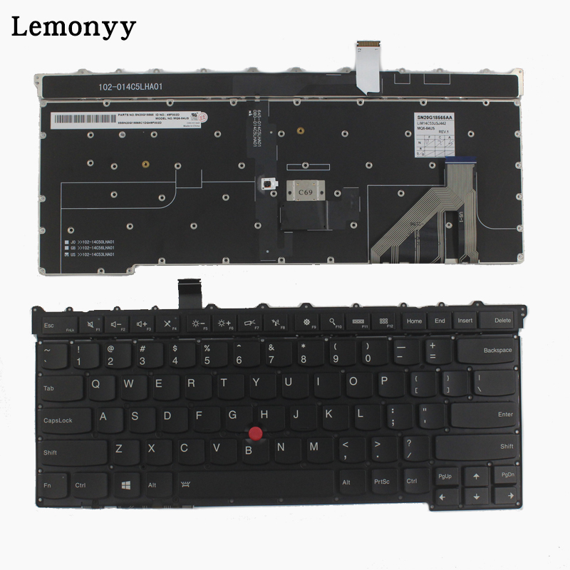 NEW US keyboard for Lenovo Thinkpad Carbon X1 Gen 3 3rd 2015 Keyboard US MQ6-84 US Laptop Keyboard new original us english keyboard thinkpad edge e420 e420s e425 e320 e325 for lenovo laptop fru 63y0213 04w0800