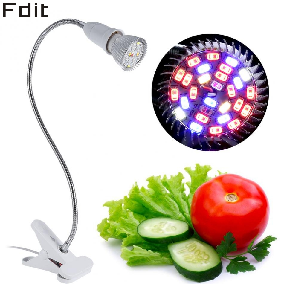 28W 28 LED Hydroponic Plant Grow Light Indoor Garden Home Flexible Desk Clamp Lamp New