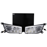 Пара lantsun ATV RZR1000 2014 2017 POLARIS RZR 1000 XP 900 ATV Chrome светодиодный фары DRL Conversion Kit