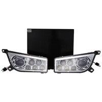 Пара lantsun ATV RZR1000 2014 2017 POLARIS RZR 1000 XP 900 ATV Chrome светодиодный фары DRL Conversion Kit