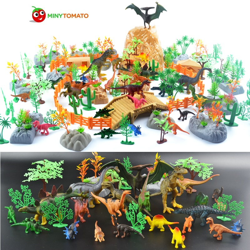 Free Shipping 200pcs/lot Dinosaur Plastic Simulation Jurassic Play Dinosaur Model Action Figures T REX DINOSAUR Best Toys