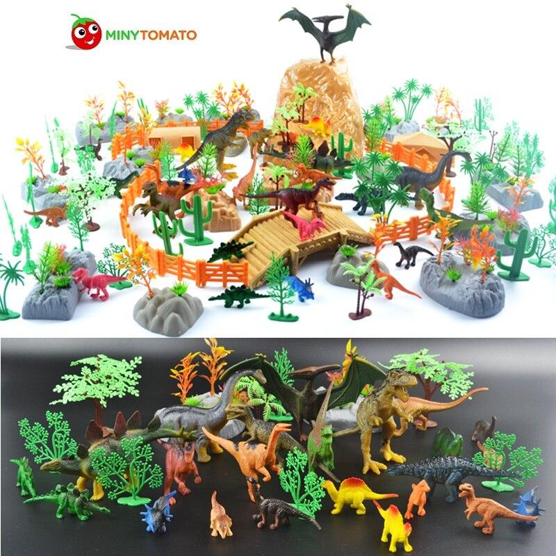 Livraison gratuite 200 pcs/lot dinosaure plastique Simulation jurassique jouer dinosaure modèle figurines d'action T-REX dinosaure meilleurs jouets