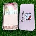 Бесплатная доставка Hello kitty Металлические женщин косметическая коробка твердые Мультфильм сумка для туалетных принадлежностей