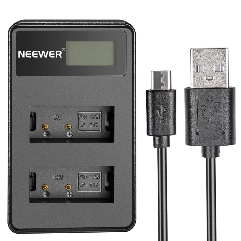 Suitable For Canon Eos M3 M5 Colours Are Striking Camera Charger Camera & Photo Accessories Neewer Usb Dual Battery Charger With Led Display 5v/2a Input For Canon Lp-e17 Rechargeable Battery