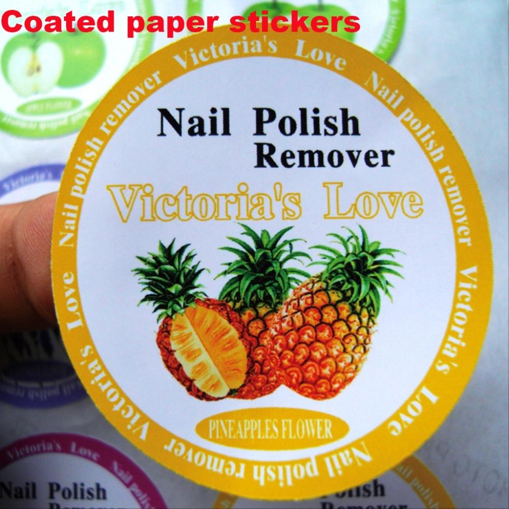 Custom Logo Text Paper Label Print Pvc Coated Paper Kraft Paper Matt Gold