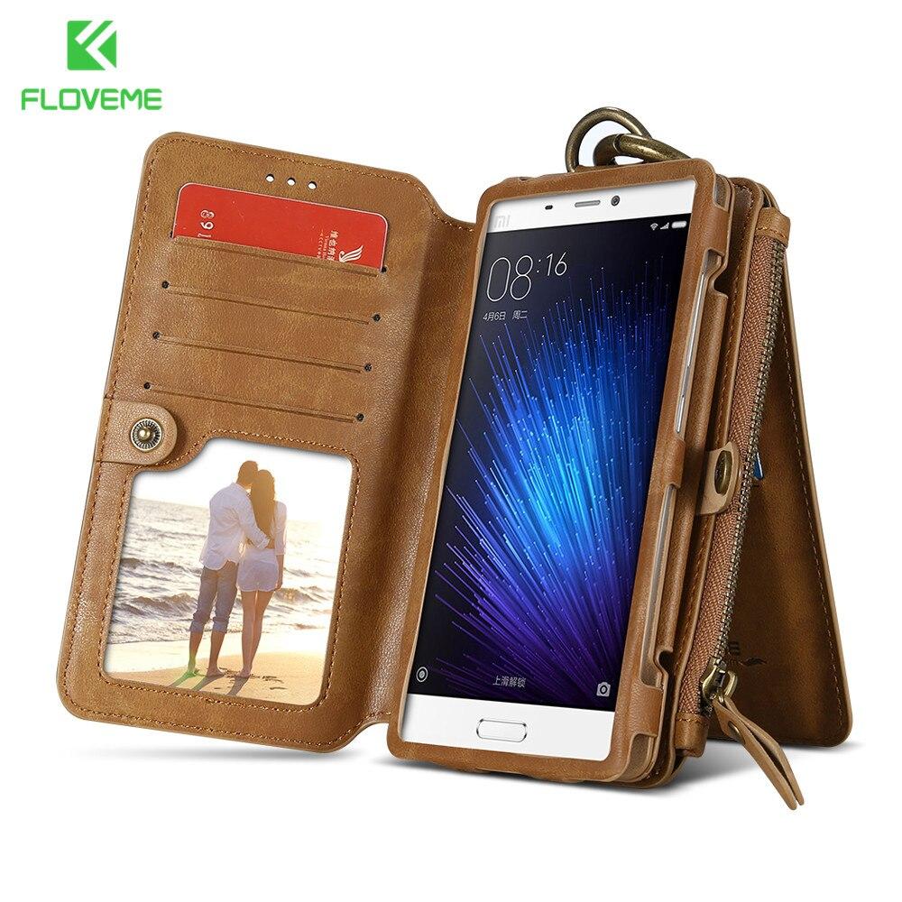 bilder für FLOVEME Original Leder Brieftasche Fall Für Xiaomi 5 Telefonschnitt Fall tasche Kartenhalter Brieftasche Fall Für Xiaomi Mi5 Retro Fällen Pouch