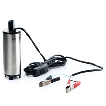 DC 12V Submersible Pump 51mm Diameter Diesel Fuel Water Oil Refueling Transfer Pump With Switch For Camping Fishing
