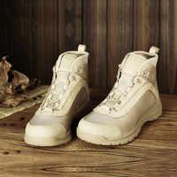 Sommer Ultraleicht Mesh Atmungs Kuh Leder Wüste Wandern Klettern Schuhe Outdoor-Sport Jagd Ausbildung Tactical Ankle Stiefel