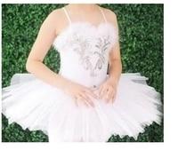 Professionele Klassieke Ballet Tutu Wit Zwanenmeer Ballet Kostuums Voor Meisjes Natuurlijke Veer Tutu Jurk Paillette Rokken Dans