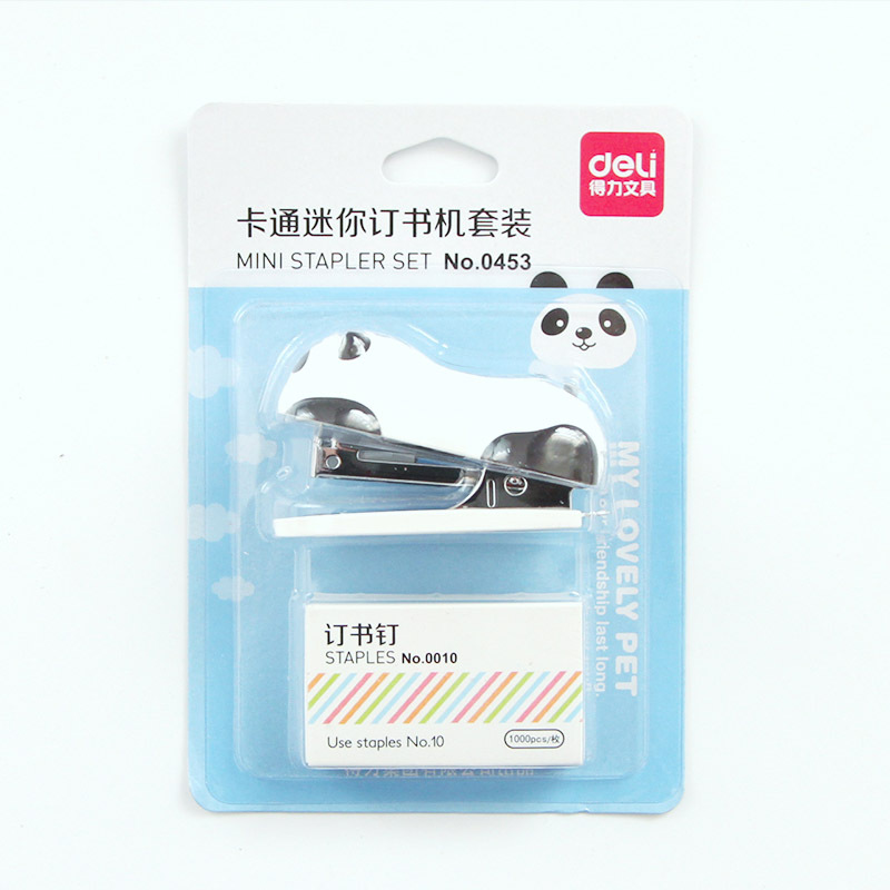 Mini stapler set with 1000pcs No.10 staple Cartoon panda binding Stationery office accessories school supplies grapadora A6784 10pcs carburetor metering diaphragm assembly small engine carburetor metering diaphragm replaces zama a015053 trimmer